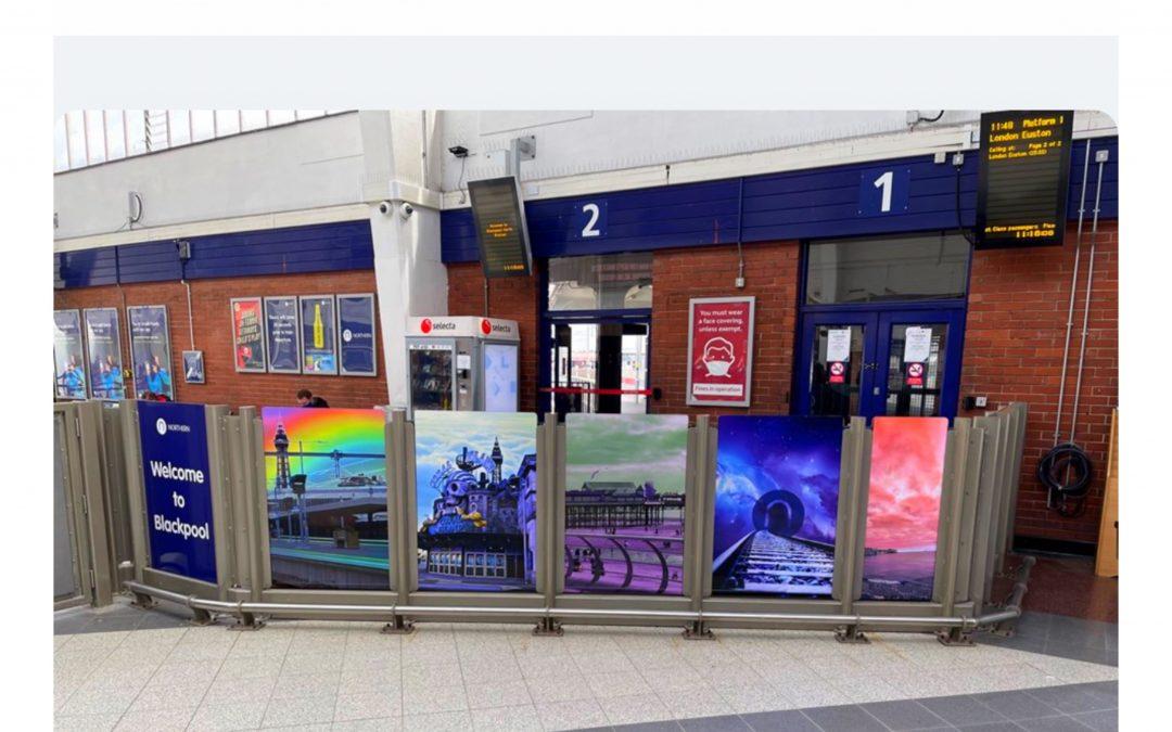 Colourful artwork at Blackpool North celebrates seaside fun