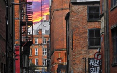 The Colourful backstreets of Manchester